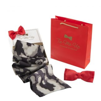 Valentino scarf, big bow clip and little big bow clip