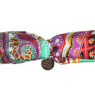 Silk bracelet City Rainbow
