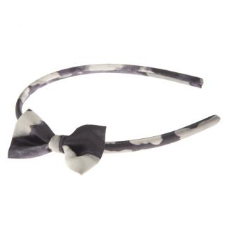 Headband cu fundiţă Valentino leopard negru