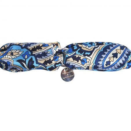 Silk bracelet Alhambra Navy