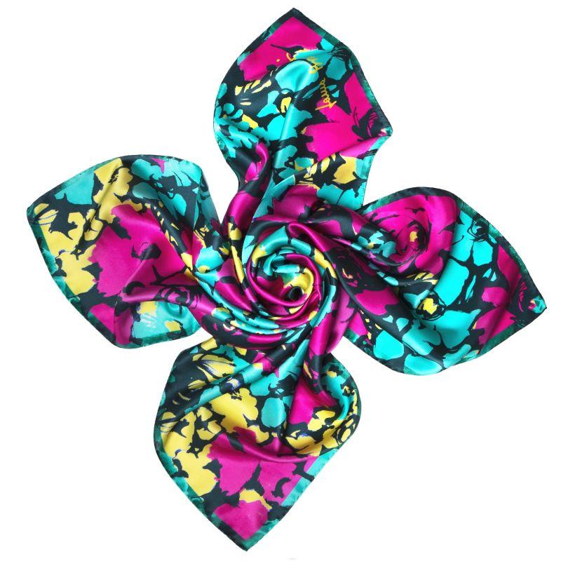 Jardin de contrast purple Silk scarf