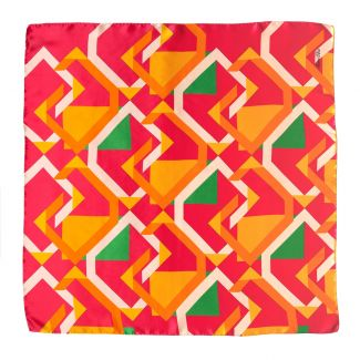 Lost in geometry corai Silk scarf