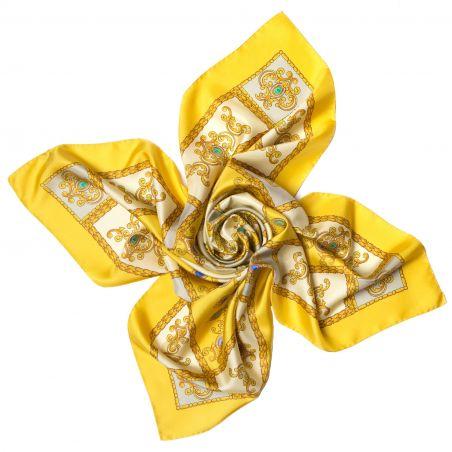 Esarfa matase Jewelry Yellow