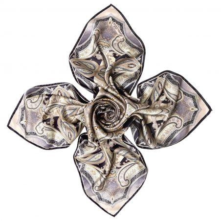 Inside beauty paisley beige Silk scarf