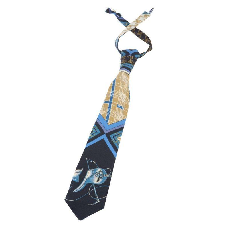 Cravata MC albastru mătase & lână
