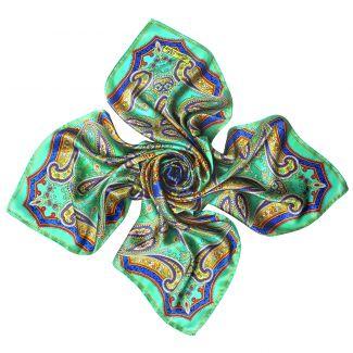 Inside Beauty paisley turcoise Silk scarf