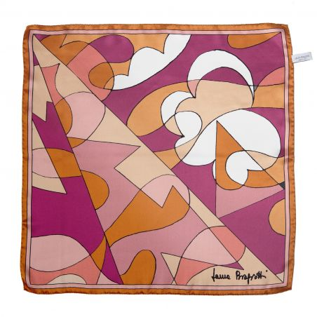 Abstract terra pastel Silk scarf