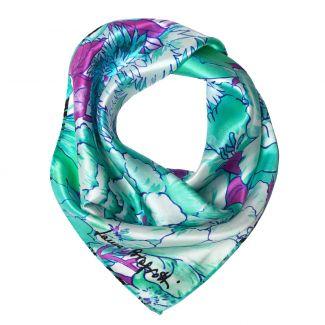Exuberance turcoise Silk scarf