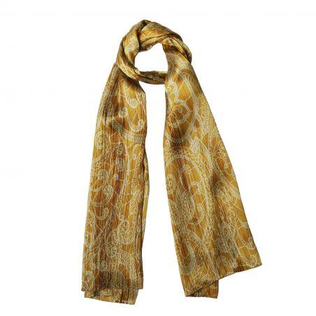 Silk shawl Laura Biagiotti Ballroom time golden