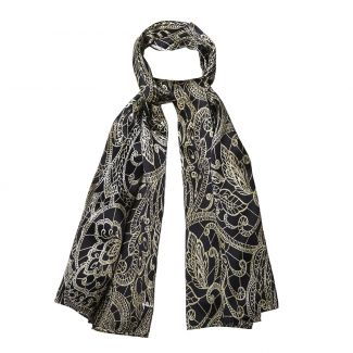 Silk shawl Laura Biagiotti Ballroom time black