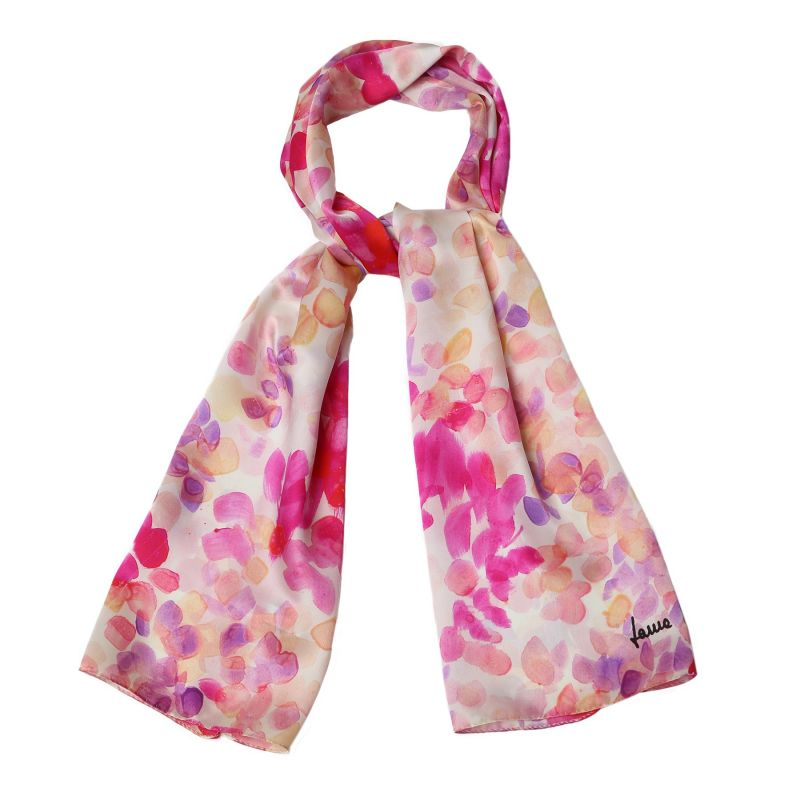 Silk shawl Laura Biagiotti Air du printemps pink