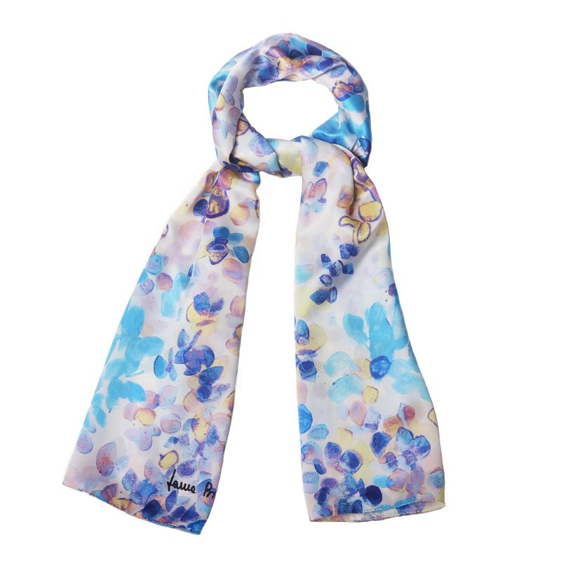Silk shawl Laura Biagiotti Air du printemps blue