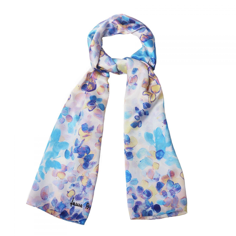 Silk shawl Laura Biagiotti Air du printemps blue