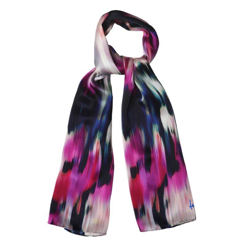 Silk shawl Laura Biagiotti Water lilies fucsia