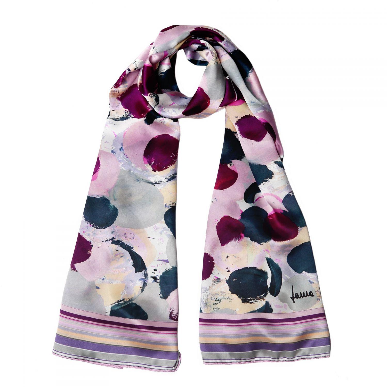 Silk shawl Laura Biagiotti Fuzzy Rose Areys