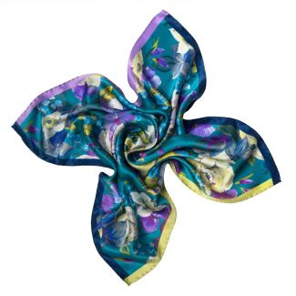 Moments Like This Blue Silk scarf