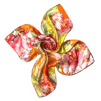 Exuberance orange Silk scarf