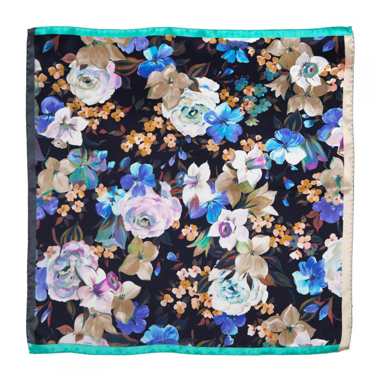 Moments Like This Navy Silk scarf