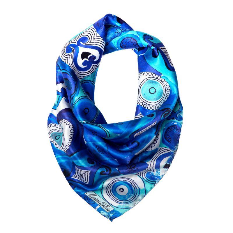 Jeux de société blue Silk scarf