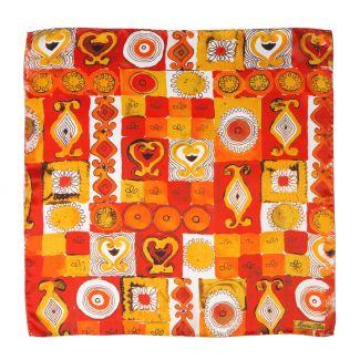 Jeux de société orange Silk scarf
