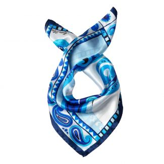 Solitude blue Silk scarf