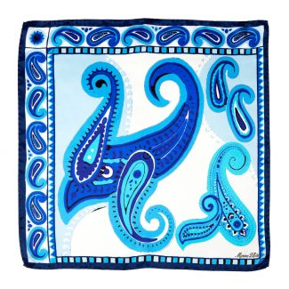 Solitude blue Silk scarf
