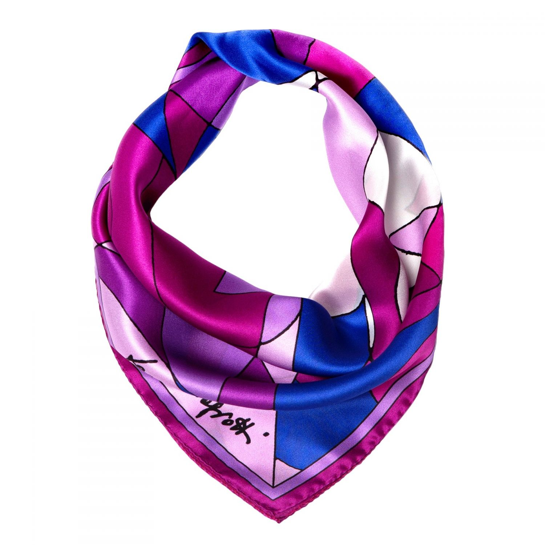 Abstract lila cu albastru Silk scarf