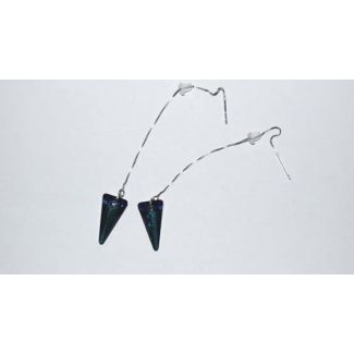 Silver earrings Swarovski Spike Pendant Bermuda Blue