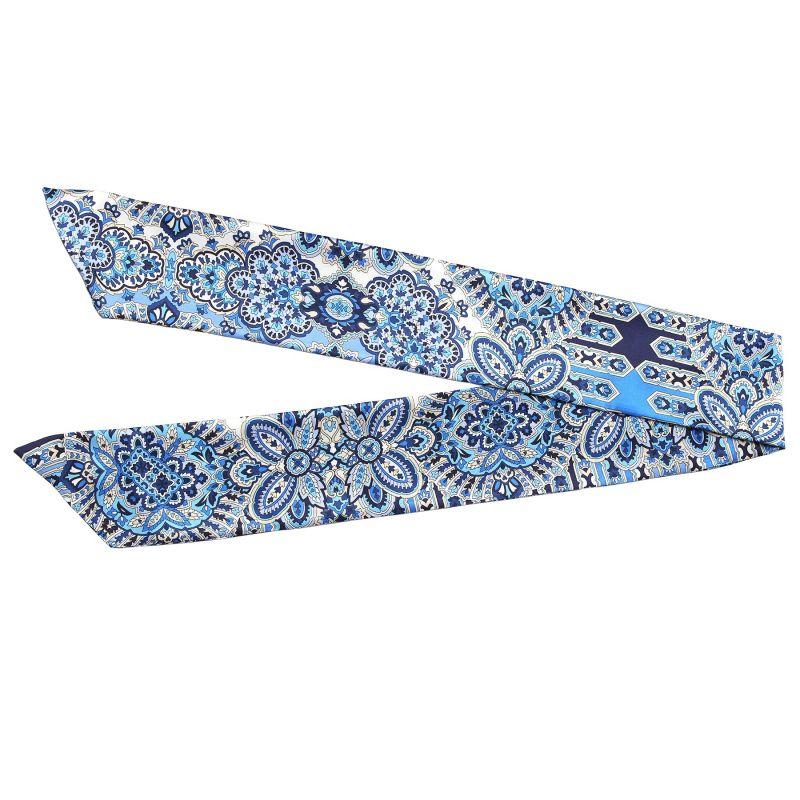 Alhambra Navy silk scarf
