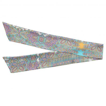 Alhambra Turcoise silk scarf