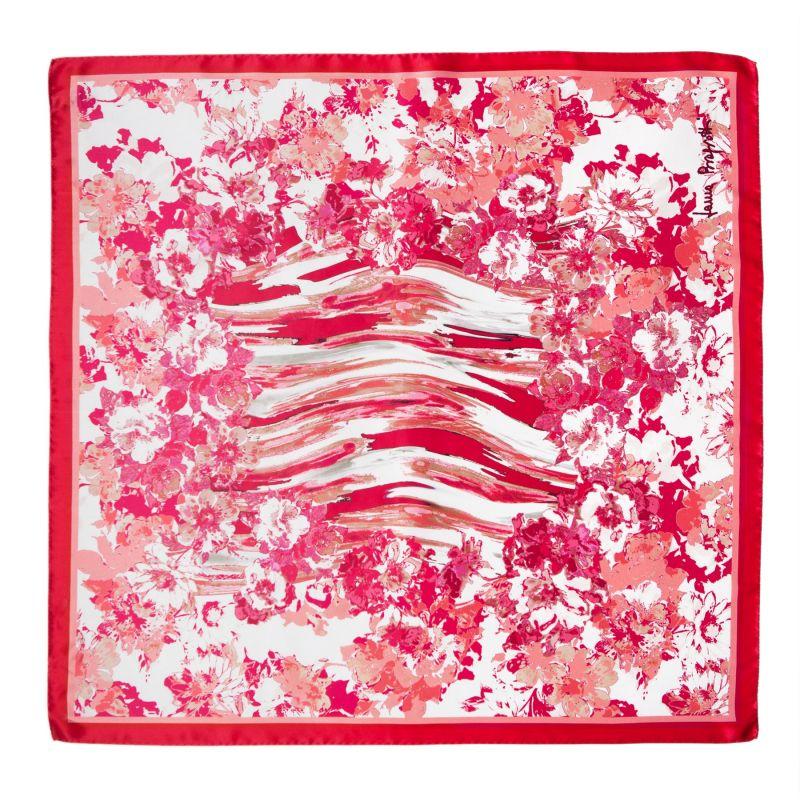 Radiant pink flowers Silk scarf