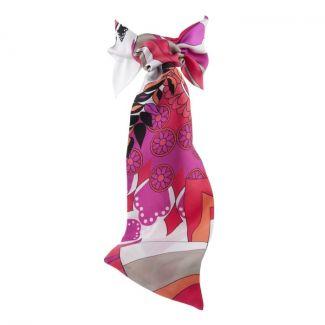 Eşarfa cu volan Pucci roz