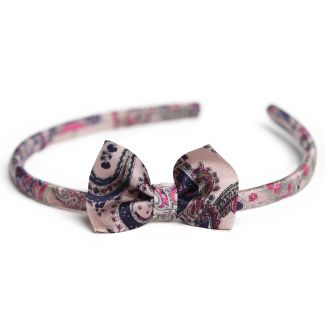 Colonial Rose silk headband