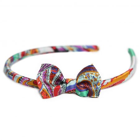 City Rainbow silk headband