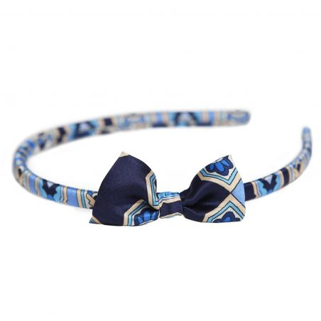 Alhambra Navy silk headband