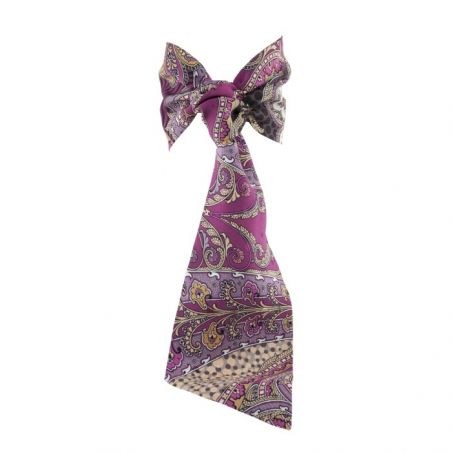 MC pink paisley flounce scarf