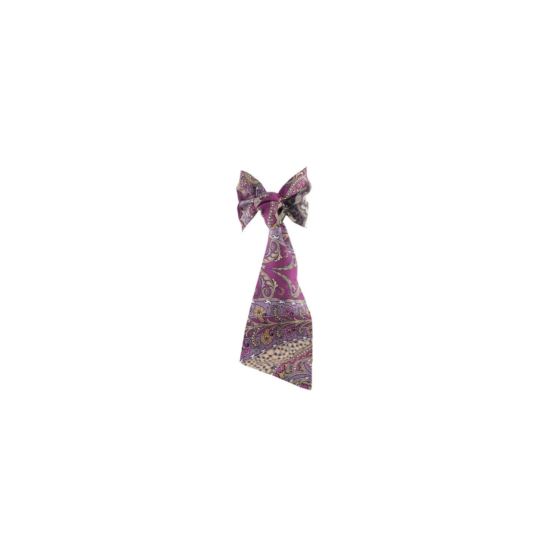 Eşarfă cu volan MC paisley roz