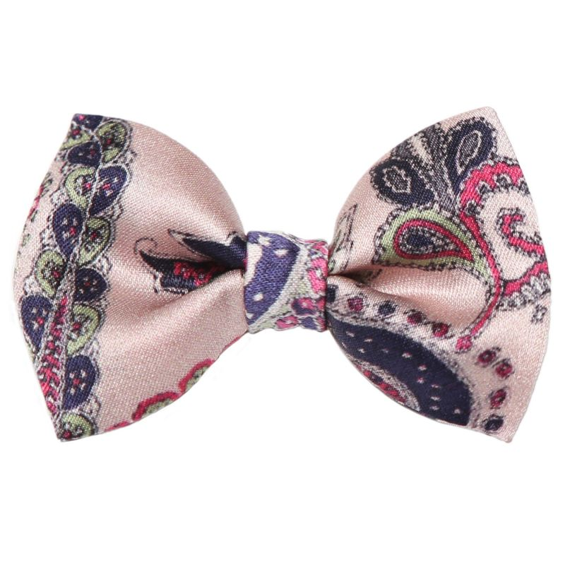 Colonial Rose bow clip