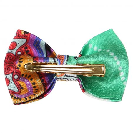 City Rainbow bow clip