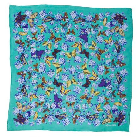 Marina D'Este Butterly Mint scarf