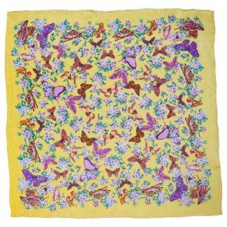 Eşarfă fluturi galbeni Marina D'Este