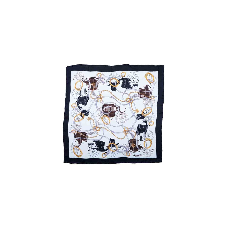 Eşarfă alb cu negru M. Schon
