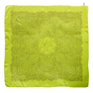 Laura Biagiotti silk scarf delicate yellow geometric print