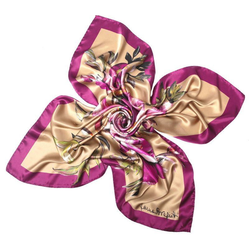 Je ne sais qui Marsala silk scarf