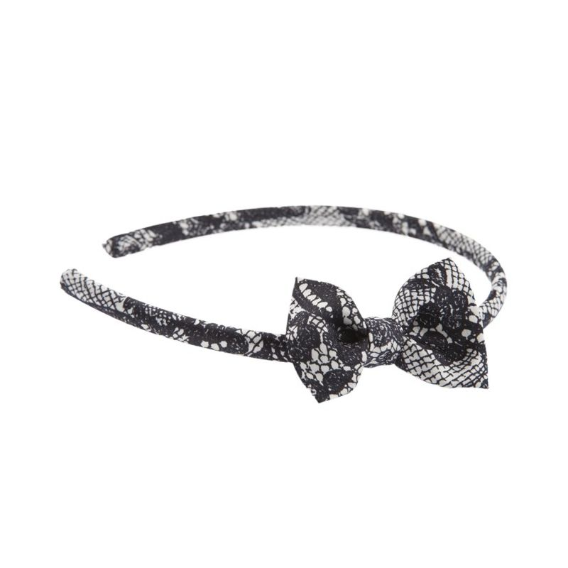 Headband cu fundita Black Lace
