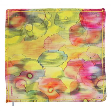 Into The Light yellow Silk scarf