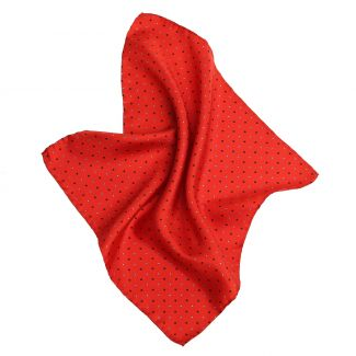 London Men Red Silk Pocket
