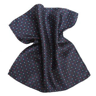 London Men Navy Silk Pocket