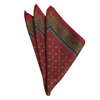 DM Ties Italian Way Burgundy Silk Pocket