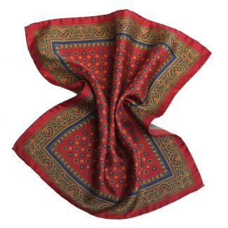 DM Ties Italian Way Burgundy Silk Pocket